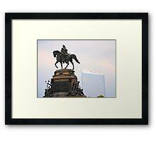 Washington Memorial Fountain Framed Print