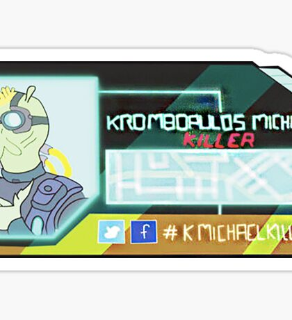 Rick and Morty-- Krombopulos Michael Card Sticker