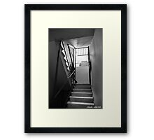 There is always light upstairs. Framed Print
