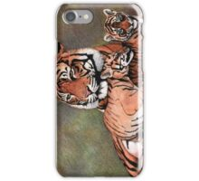 Family of tigers iPhone Case/Skin