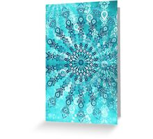turquoise mandala Greeting Card