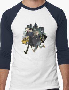 Sherlock NYC -  SCREENING - Day (White Logo)  Men's Baseball ¾ T-Shirt