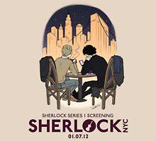 Sherlock NYC - SCREENING - Night (Purple Logo) Unisex T-Shirt