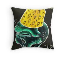Zombie Fez Throw Pillow