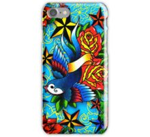 Traditional Swallow & Rose Tattoo iPhone Case/Skin