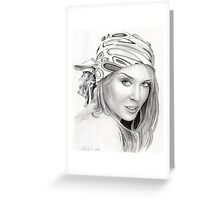 Kylie Minogue - bandana/kerchief  Greeting Card