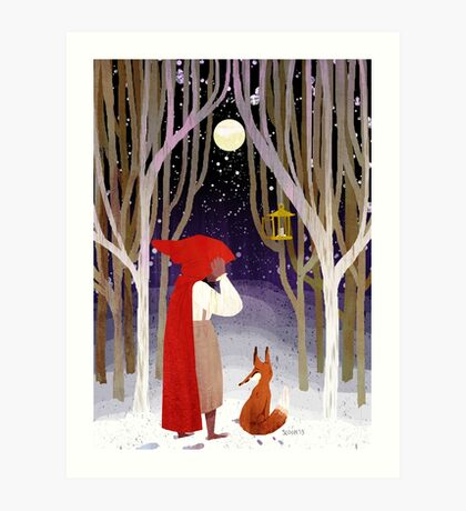 Moon in Winter Art Print
