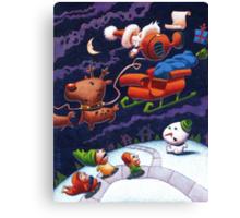Santa's Trippin' Acrylic version Canvas Print