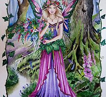 Flower forest fairy faerie by gabo2828