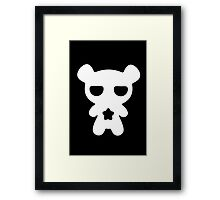 Lazy Bear Black and White Framed Print