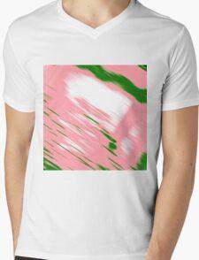 Pink smear Mens V-Neck T-Shirt