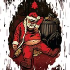 Drunk Santa Funny Christmas Card by Jeremy Ley