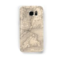 Vintage Cape Cod Old Colony Line Map (1888) Samsung Galaxy Case/Skin