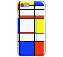 Mondrian: Color Block Central iPhone Case/Skin