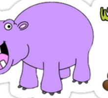 We All Poop Hippo Sticker