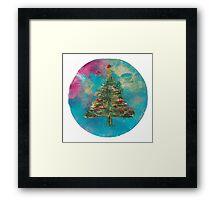 Christmas Tree Snow Globe Framed Print