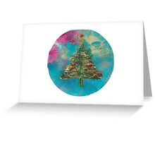 Christmas Tree Snow Globe Greeting Card