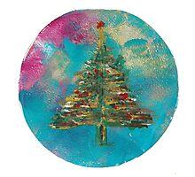Christmas Tree Snow Globe Photographic Print