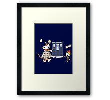 Doctor and Daleks Framed Print