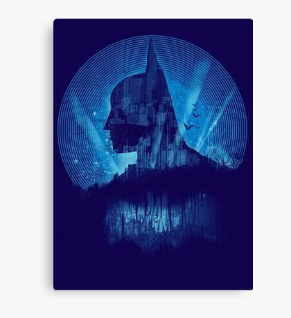 City Knight - blue version Canvas Print