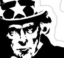 Uncle Sam Get A Job Sticker