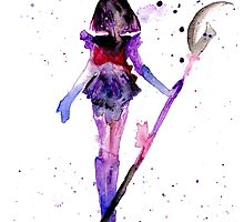 Saturn Watercolor by shaunarae