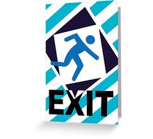 Exit, the urban trend Greeting Card