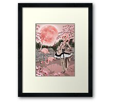 Flamingo Fairy - Pink Moon Framed Print