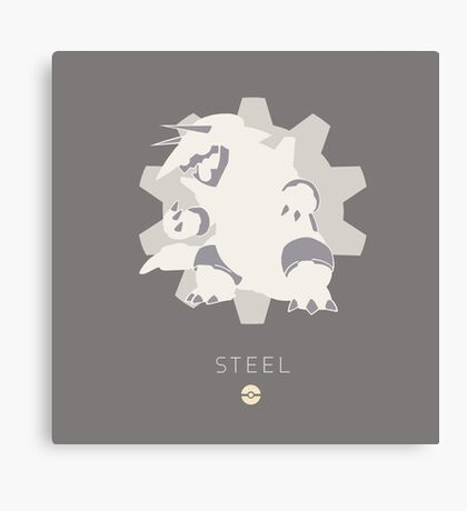 Pokemon Type - Steel Canvas Print