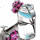 Flowers & Mason Jar by RobynLee
