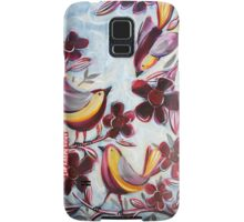 """""""Finches in the Flowers"""" by Anna Bartlett Samsung Galaxy Case/Skin"""