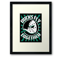 DUCKS FLY TOGETHER Framed Print