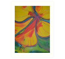 splashy yellow Art Print