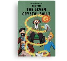 Tintin and the Seven Crystal Balls fan cover Canvas Print