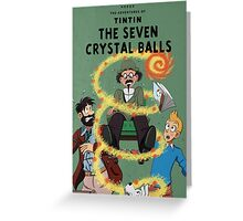 Tintin and the Seven Crystal Balls fan cover Greeting Card