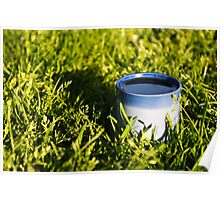 Coffee in the grass Poster