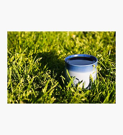 Coffee in the grass Photographic Print