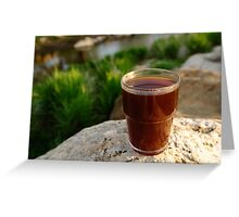 Coffee by a river Greeting Card