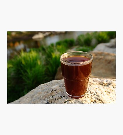 Coffee by a river Photographic Print