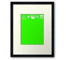 Whatsapp Drunk Framed Print