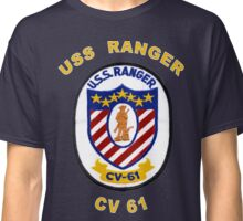 USS Ranger (CV/CVA-61) Crest for Dark Colors Classic T-Shirt