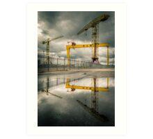 Belfast Cranes Art Print
