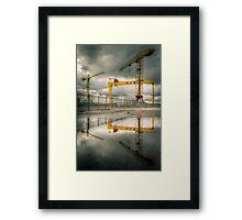 Belfast Cranes Framed Print