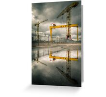 Belfast Cranes Greeting Card