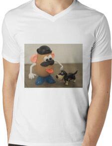 Mr Potato Head and his doggy  Mens V-Neck T-Shirt