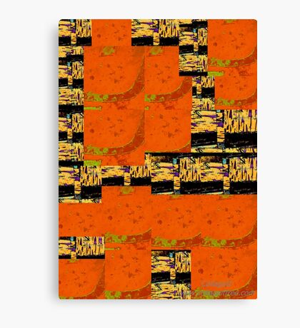 Abstract Landscape and Black Squares Canvas Print