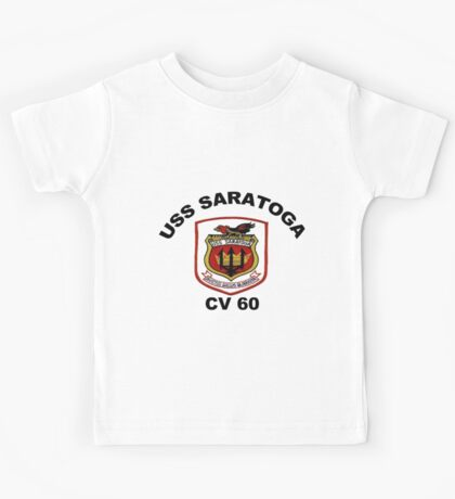 USS Saratoga (CV/CVA/CVB-60) Crest Kids Tee