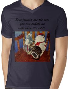 Rocking With Friends - Cat & Stuffed Animals iPhone Cases, T-Shirts & Stickers Mens V-Neck T-Shirt