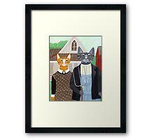 Ameowican Gothic Framed Print