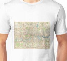 Vintage Map of London England (1899) Unisex T-Shirt